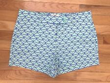 NWT Vineyard Vines Women's Whale Tail Dayboat Shorts Crystal Blue $98 B12