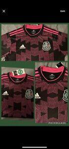 Adidas Mexico Large Jersey Black Pink Copa Oro 2021 Fútbol