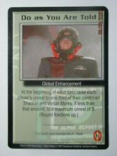 1999 Babylon 5 Ccg - Severed Dreams - Rare Card - Do As You Are Told