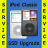 iPod Classic 5th, 6th, 7th SSD Upgrade 128GB 256GB 512GB 1TB + Battery & Back!!!
