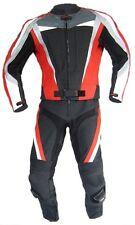 Lederkombi als Zweiteiler in Rot Schwarz zweiteilig Gr. 46 50 52 56 leather suit