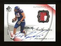 2010 SP Authentic Rob Gronkowski RC Patch AUTO #/499 NM-MT OR BETTER