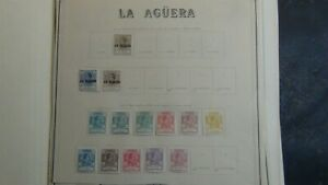 Sp. Colonies stamp collection on various old pages w/est #265 stamps