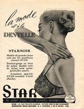 1959 STAR LINGERIE Original  Vintage Quarter Page French Magazine Ad