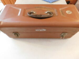 METAL OLD PAL FISHING TACKLE BOX SW2310 FULL REEL LURES HOOKS LINE LOTS OF ITEMS