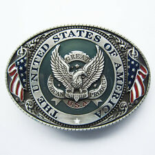 * Adler Eagle USA United States Flag Flagge Gürtelschnalle Belt Buckle *148