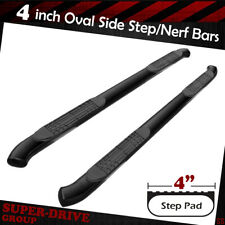"4"" Curved Black Nerf Bar For 1999-2018 Chevy Silverado GMC Sierra Extended Cab"