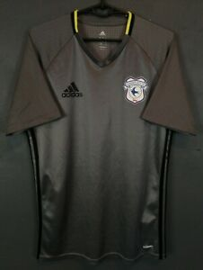 MEN'S PLAYER ISSUE FC CARDIFF CITY 2015/2016 SOCCER FOOTBALL SHIRT JERSEY SIZE M