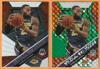 2019-20 Panini Mosaic Lebron James Will to Win Green Prizm #7 With Base Card