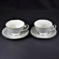 Tirschenreuth Dawn Footed Cup and Saucer Sets (2 Sets)