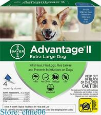 Bayer Advantage Ii Extra Large For Dogs Over 55 lbs - 4 packs - Free Shipping