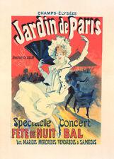 Jardin de Paris by Jules Cheret 90cm x 64cm Art Paper Print