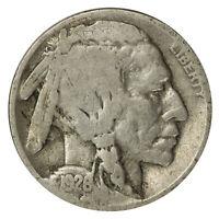 1926 -D Buffalo Nickel 5c Cent Good GD Condition