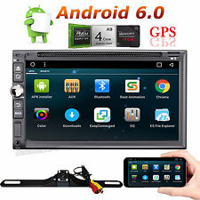 7'' Android6.0 4G WiFi Double 2DIN Car Radio Stereo Multimedia GPS Navi BT+Cam