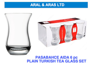 ✅ PASABAHCE Aida Clear *Turkish Tea* Glass Set - Branded Packaging (6 OR 12) ✅