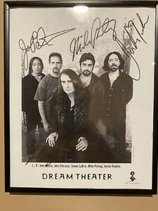 dream theater signed Rare, Mis Printed Concert Poster From 2001