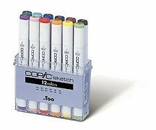 NEW Copic Marker 12-Piece Sketch Basic Set, great gift for artists free shipping