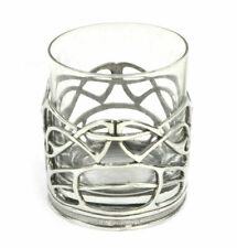 Pair of Highland Stag Solid Pewter Wine Glass Holders and Glasses in Presentatio