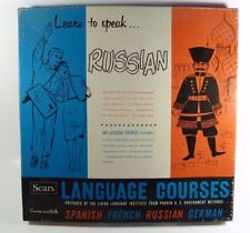 Vintage Sears Language Course on 33 1/3LP Record - How To Speak Russian - 1958