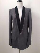 Stella McCartney Gray Black Mathilda Triple Lapel Tuxedo Jacket 42 excellent
