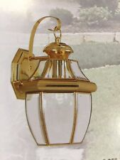 Brass Outdoor House Light Porch Lamp Garage Door Outside Lantern Fixture NEW