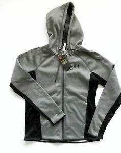 UNDER ARMOUR STORM LADIES GREY WATER RESISTANT HOODIE JACKET SMALL NEW WITH TAGS