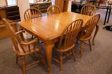 Kincaid Solid Oak Dining Table + 6 Chairs