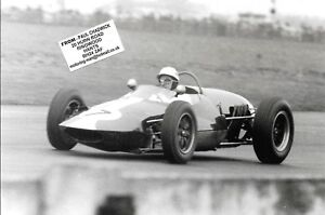 IAN RABY GILBY CLIMAX GLOVER TROPHY GOODWOOD 1963 PHOTOGRAPH F1 RACE