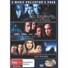 I Know (Still+Always) What You Did Last Summer TRILOGY 1+2+3 DVD 3-MOVIE PACK R4