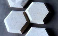 """Wall Tile Hexagon Concrete Molds 11.5"""" 12pc Set"""