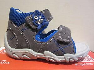 Superfit Walker Sandals Grey/Blue Kv Leather Footbed New