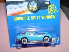 1993 HOT WHEELS CORVETTE SPLIT WINDOW COLLECTOR #197 CARD #3092 NEW PAINT STYLE