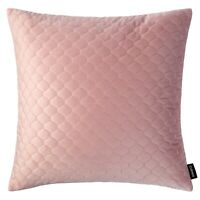 Quilted Velvet Cushion Blush Pink Decorative Throw Pillow Case Sofa Cover 43cm