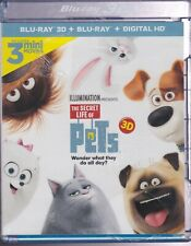 THE SECRET LIFE OF PETS 3D BLURAY & BLU-RAY SET with Kevin Hart & Albert Brooks