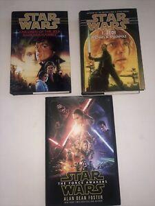 Lot of 3 Star Wars Hardcover Books: I, Jedi, The Force Awakens, Children Of Jedi