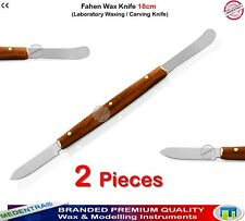 Dental Laboratory Wax Knife Modeling Carvers Alginate Mixing Knives Kit of 2 CE