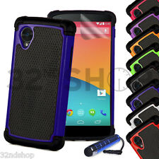 32nd Dual Layer Shockproof Case for Google Nexus 6p Screen Protector & Stylus Deep Blue