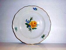 Meissen Gelbe Rose mit Vergissmeinnicht Dessertteller 18 cm 020910 - 501