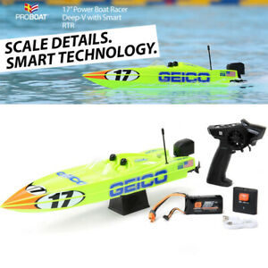 "Pro Boat PRB08044T1 17"" Power Boat Racer Deep-V RTR Miss GEICO"