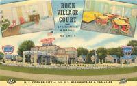 1951 Springfield Missouri Rock Village Court Hotel Route 66 Linen Roadside