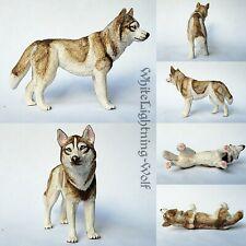 Custom Painted Schleich Papo Husky Animal Figure
