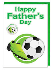 Día Del Padre Tarjeta & Insignia para Papá Padrastro Abuelo - Balón Fútbol &