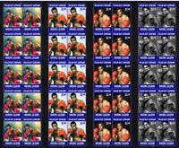 SUGAR RAY LEONARD BOXING LEGEND SET OF 4 MINT VIGNETTE STAMPS