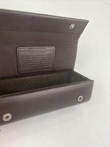 Coach Eyeglass Case Leatherware 1941 Dark Brown Leather Snap Box B14