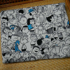 Snoopy & Friends Cotton Rib knit Fabric for DIY Cloth Bedset Pillow 50x135cm