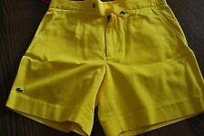 Lacoste Men's shorts Bermuda  Yellow Jeffrey limited edition size 42