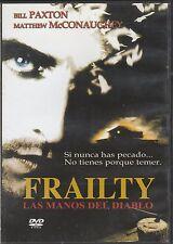 Frailty las manos del diablo DVD Bill Paxton Matthew McConaughey - Regions 1 / 4