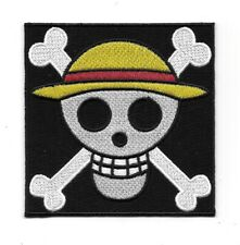 One Piece Japanese Anime' Luffy Skull Flag Logo Embroidered Patch NEW UNUSED