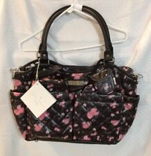 New With Tags Laura Ashley Baby Girls Diaper Bag W/Accessories Color Multi  *