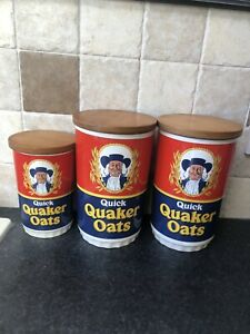 Set Of Quick Quaker Oats Lord Nelson Pottery 1970 Jars